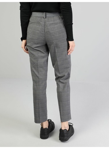 Colin's Slim Fit Düşük Bel Düz Paça Kadın Gri Pantolon Gri
